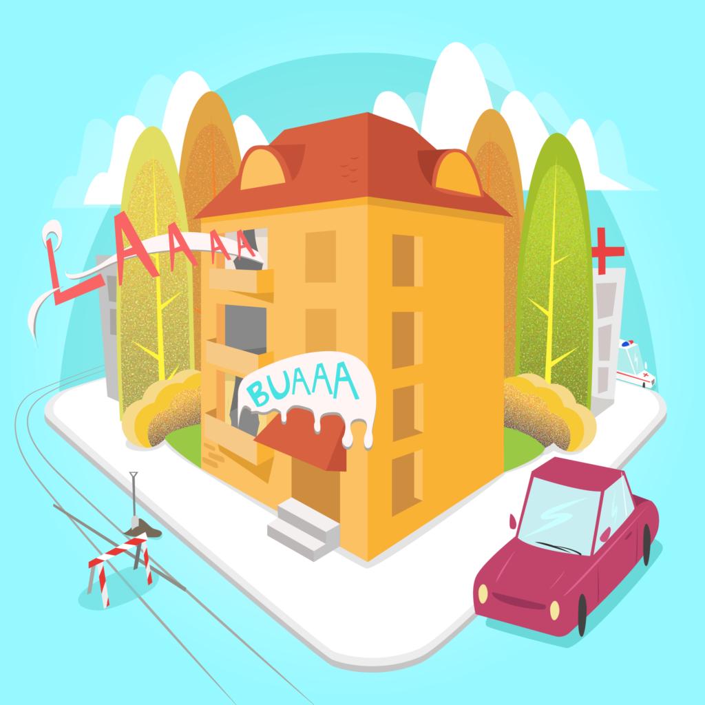 cover podcast el barrio madre mia por Fernando Mena graphic design