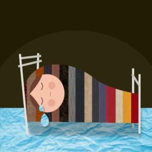 cerrar los ojitos illustration by @menastudio